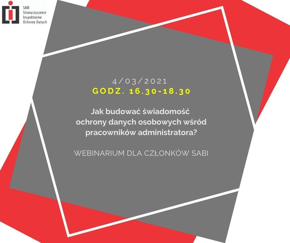 Webinarium dla członków SABI